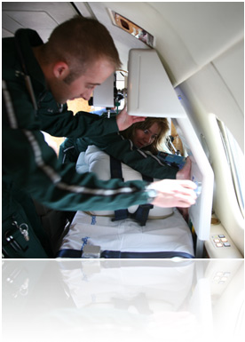 air ambulance helicopter in Stretcher Cases / Medical Case