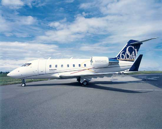 charter flight Challenger 604