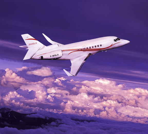 charter flight Falcon 2000 EX