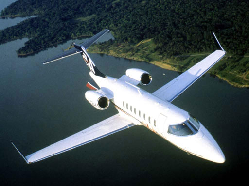 charter flight Lear jet 45