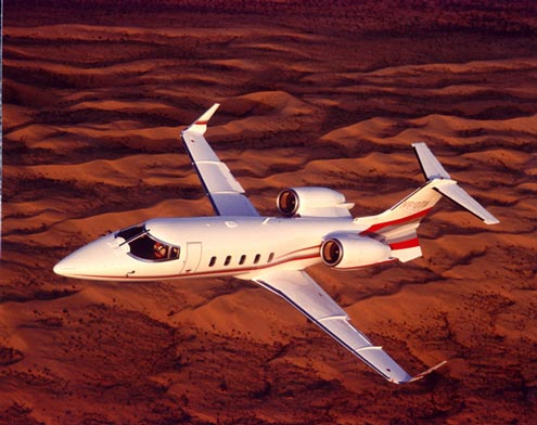charter flight Lear jet 60